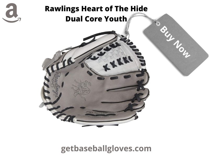rawlings heart of the hide dual core youth fastpitch softball glove series